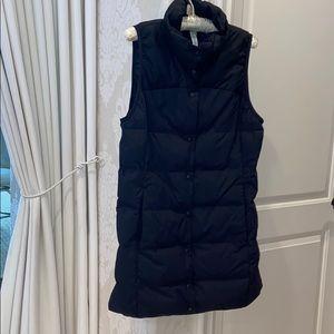 Lulu lemon quilted long button down vest